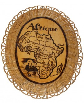 Déco osier - Carte du Bénin