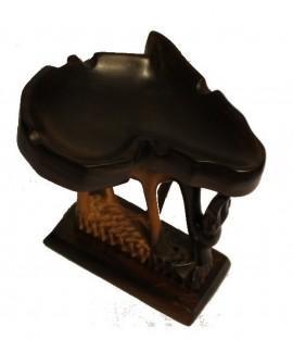 Cendrier en bois d'ébène -Antilope