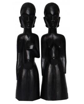 Couple de statuettes africaines