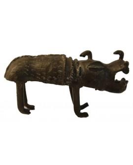 Rhinocéros en bronze du Bénin