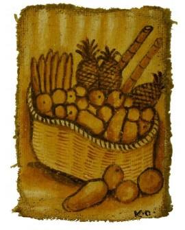 Peinture: Corbeille de fruits