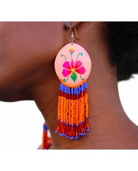 Keko - Boucles d'oreilles en perles