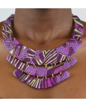 COLLIER PYRAMIDE WAX AFRICAIN
