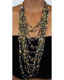 Collier africain en perle multirang